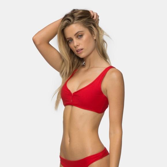 06a1842cd6469 Tavik Swim | Ribbed Viking Red Marlowe Bikini Top | Poshmark